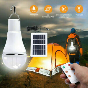 9W LED Mosquito Bug Repellent Bulb Light Solar Powered Outdoor Camping Tent Lamp