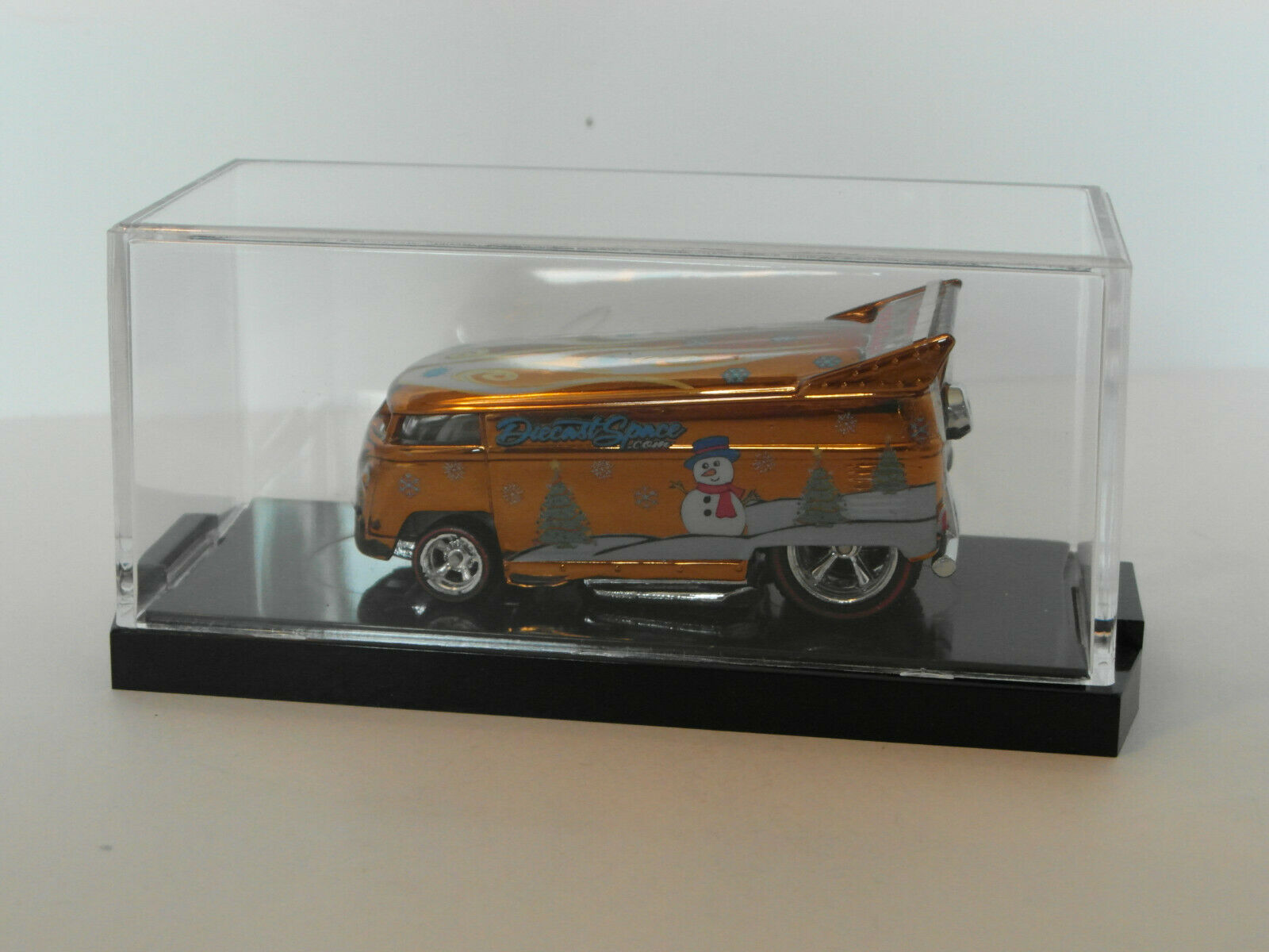 2012 HW Diecast Space VW DRAG BUS HOLIDAY BROWN CHROME Edition Real Riders 1of1