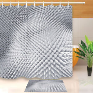 Image Is Loading 3D Silver Spiked Texture Shower Curtain Liner Bathroom