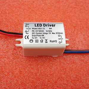 6W-Watt-High-Power-LED-Driver-Constant-Current-AC170V-260V-50-60Hz-500mA-DC-12V