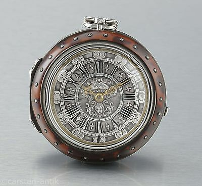 Candid Henry Massy Silver Tribble Case Verge Fuse Pocket Watch 1700 London Spindeluhr Watches, Parts & Accessories