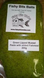 green lipped mussel paste bait by fishy bits baits for coarse carp