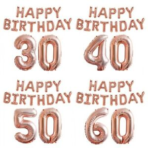 18-21-30-Happy-Birthday-Party-Rose-Gold-Foil-Balloons-Set-Helium-Hanging-Decor