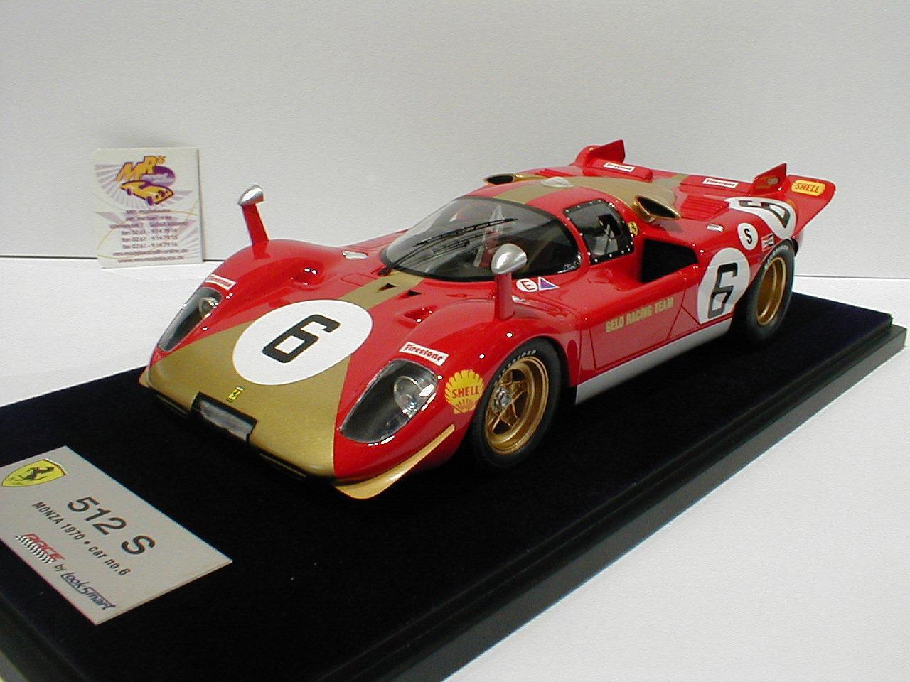 Look Smart LS18-08F -Ferrari 512 S No. 6 1000 KM Monza 1970 Georg Loos 1 18  NEU