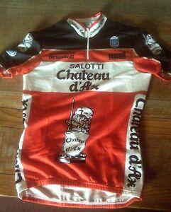Salotti Chateau D Ax.Nos Seb Salotti Chateau D Ax Cycling Jersey Size L 38 Chest Ebay