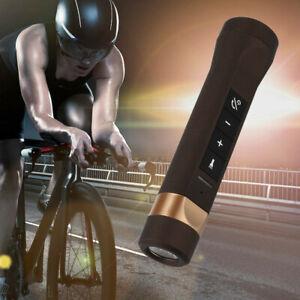 Multifunctional Bicycle Bike Audio Brass Speaker Bluetooth Headlight Power Bank❤