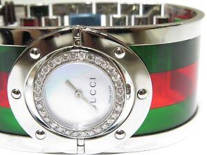 57f662beb3a Gucci Women s Twirl YA112417 Stainless Steel   Plastic Green   Red ...