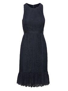 d8c70dd99bed NWT Banana Republic Lace Paneled Sheath Dress Navy Blue Sz 16T | eBay