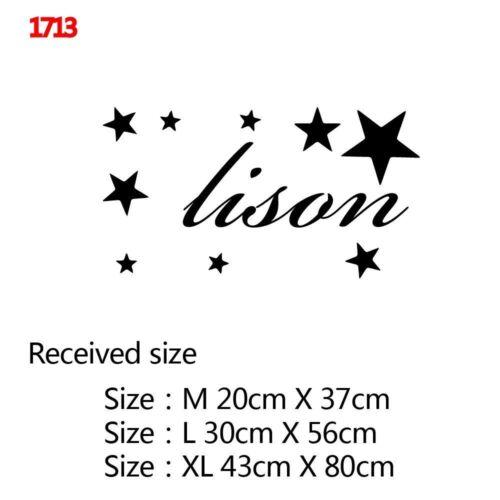 Custom Name Wall Sticker For Kids Rooms BedRoom Decor Vinyl Room Decoration Wall