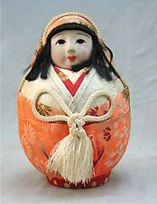 Vintage Darling Japanese Hime Daruma Doll Painted Eyes