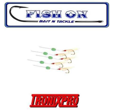 Tronixpro Feathers Micro Rigs Sabiki Lures Hook Size 12 Sea Fishing Mackerel LRF