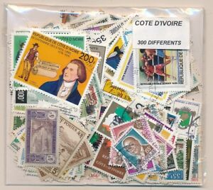 Intelligent Costa Ivoire Us 300 Timbres Différents