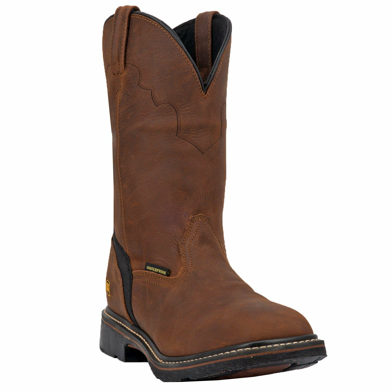 MEN'S DAN POST LUBBOCK BROWN LEATHER SQUARE TOE BOOT DP69878
