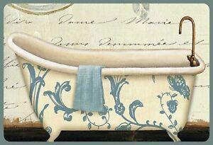 Badewanne-Vintage-Badezimmer-Blechschild-Schild-Metal-Tin-Sign-20-x-30-cm-FA1165