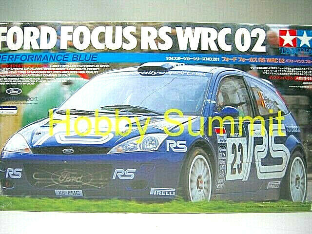 Discountinued  Tamiya 1 24  FORD FOCUS RS WRC 2002 Rally  Performance bluee