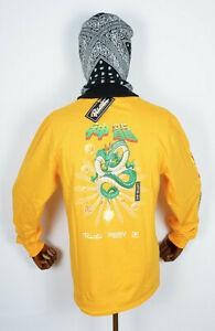 Primitive Skateboard Tee T-Shirt Longsleeve Dragonball Z Shenron Wish Gold XXL