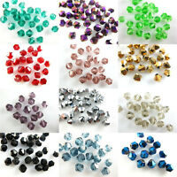 8mm 50/100pcs Faceted Bicone Crystal Glass Loose Beads Spacers Findings Charms