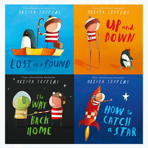 Oliver-Jeffers-4-Books-Collection-Set-How-to-Catch-a-Star-Way-Back-Home-Up-amp-Dow