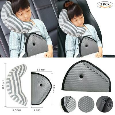 DODYMPS Car Seat Travel Pillow Neck Support Cushion Pad and Seatbelt Adjuster for Kids 2 PCS Safety Belt Sleeping Pillow and Adjuster for Cars Safety Strap Covers