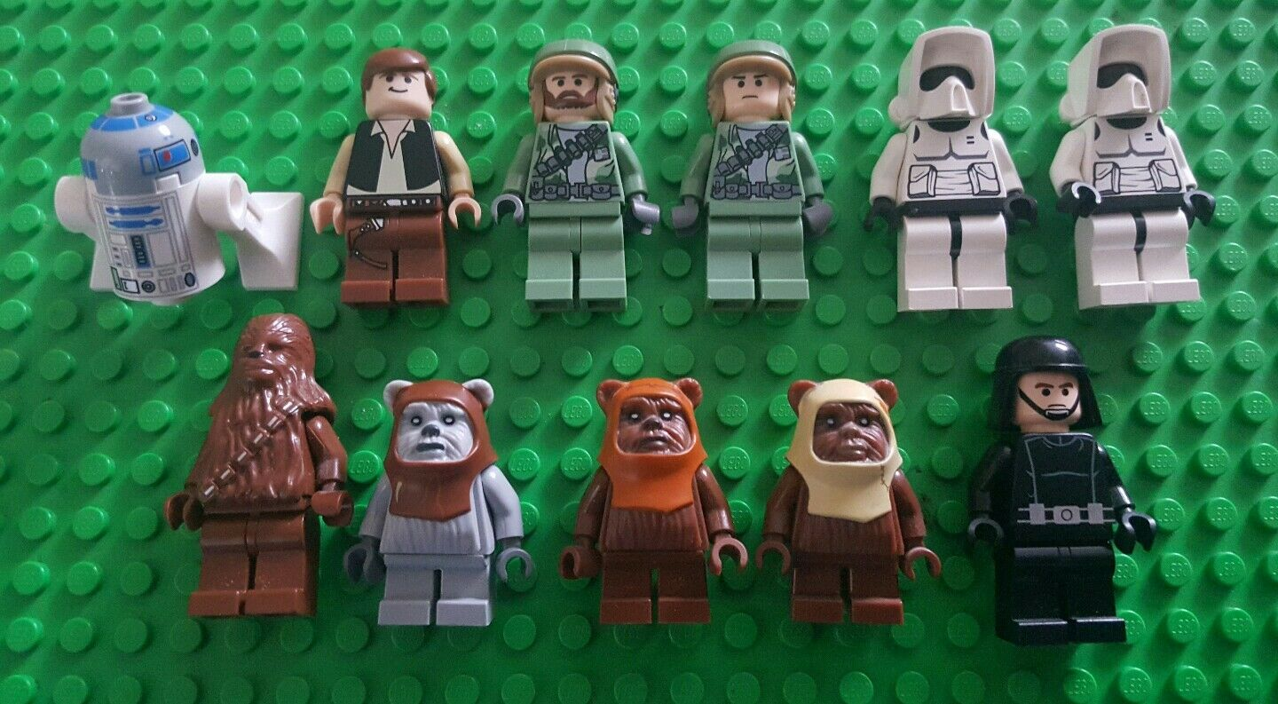 Lego Figurines Star Wars Minifigures 8038 Han Solo EWOKS SCOUT Imperial Trooper