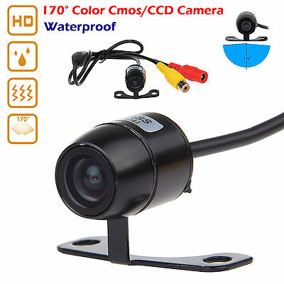 12V 170°Mini Color CCD Reverse Backup Car Rear View Camera Night Vision Cam Kits