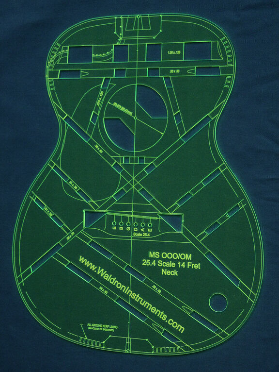 Acoustic MS OOO 14 Fret 25.4  Scale Top Guitar Template