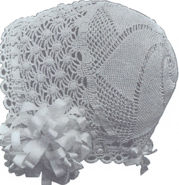 Vintage Antique Crochet Pattern To Make 1915 Baby Cap Hat Bonnet