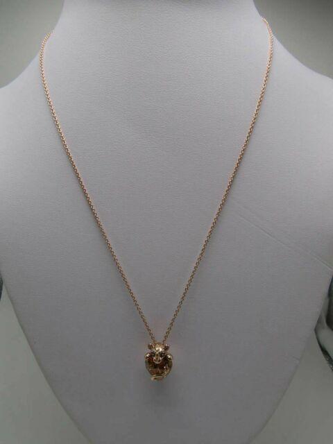 Pandora Sparkling Lioness Heart Pendant Necklace Rose Gold Jewelry 388068czm For Sale Online Ebay