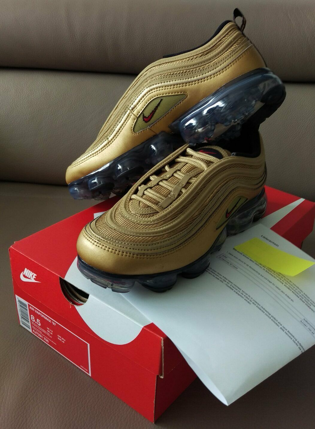 Nike Vapormax Air Max 97 Herren Schuh Sneaker OVP Edition Gold Bullet NEU OVP Sneaker Men 42 c54b35