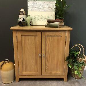 Oak-Linen-Cupboard-Storage-Cabinet-Solid-Wood-Sideboard-Harvard