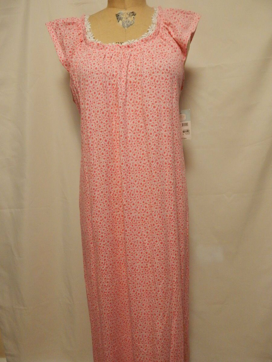Carole Hochman Bouquet Parade Night Gown  Coral Flower NWT