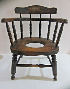 Image Is Loading Antique Early 1800 039 S Childs Potty Commode