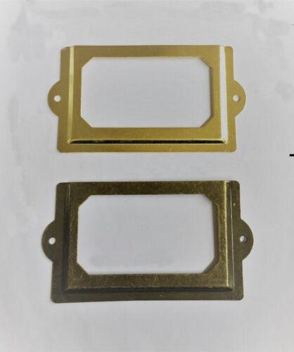 Cabinet Drawer Door Tag Label Pull Frame Handle File Name Card Holder