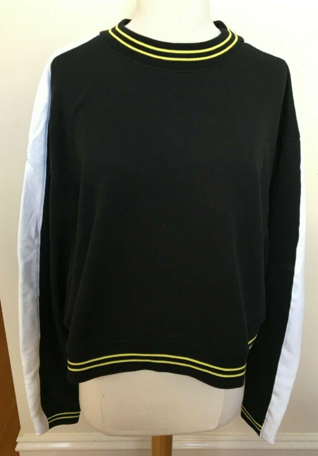 NEUW BNWT Woherren Cindy Crew Neck Long Sleeve Box Cut Short Sweatshirt 14 XL