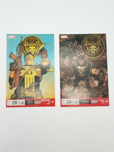 The Trial of the Punisher #1 & #2 Complete Mini Series 2014 Marvel Comic Book