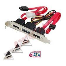 ADATTATORE CON STAFFA PCI da SATA a 2 ESATA + MOLEX 4 PIN INTERNA COMPUTER PC