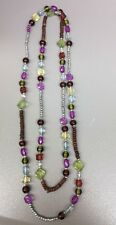 Multicolor Beaded Necklace, Long