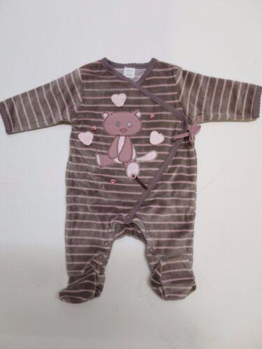 Baby girls babygrow velour sleeper romper 18-24 months  RRP £!5