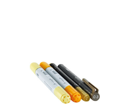 """COPIC Marker ciao 4er Set /""""Doodle Pack Yellow/"""""""