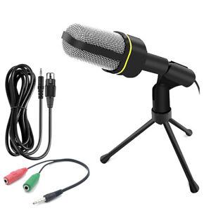Microfono-CON-Mini-supporto-Treppiede-Registrazione-audio-per-PC-Desktop