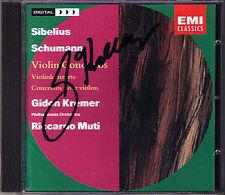 Gidon KREMER Signed SCHUMANN SIBELIUS Violin Co MUTI CD Violinkonzerte Concerto