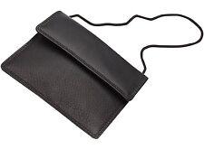 LEDER Brustbeutel quer SECURITY schwarz  Ausweis Tasche Geldbörse Geldbeutel