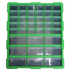 39 Drawer Tool Storage Unit Wall Mount DIY Organiser Cabinet Box Screws Nuts