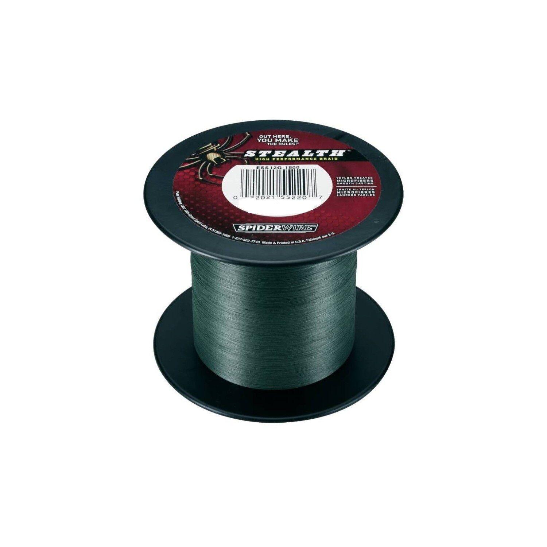 SPIDERWIRE STEALTH mm VERDE 0,12 mm STEALTH 3000 M BOBINA/Prezzo base per M 5d4a76