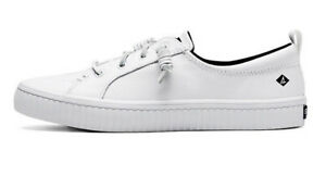 sperry women's white leather sneakers