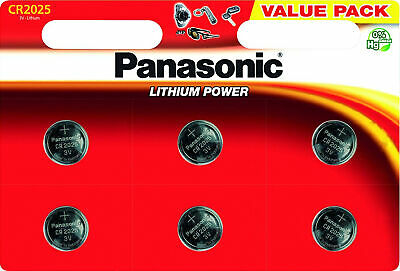 Billiger Preis 24x Panasonic Knopfzelle Lithium Cr2025 (4x6er Blister) 3 V Cr-2025el/6bp Hochglanzpoliert