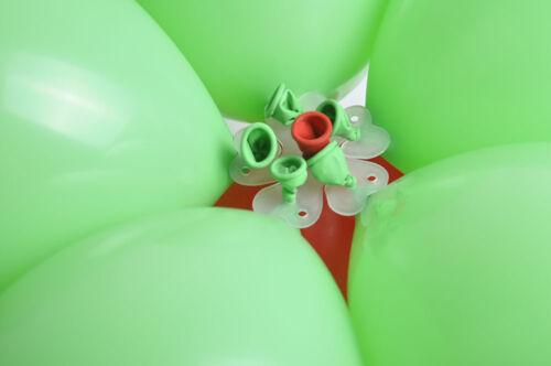 10//50//100x Balloon Tie Sheet Flower Shape Clip Xmas Birthday Party Wedding Decor