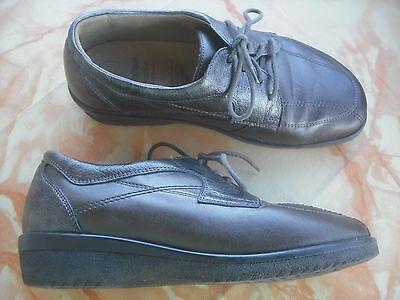 Ganter Damen Leder Schnür Schuhe GR 4,5/ 37 bronze Top Zustand