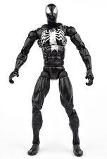"Spider-Man Origins Secret Wars BLACK SUIT Silver SPIDER-MAN 6"" Figure Hasbro"