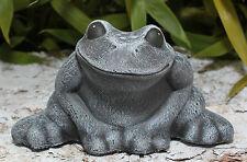 Steinfigur Frosch Tierfigur Gartenfigur Gartendeko Steinguss frostfest